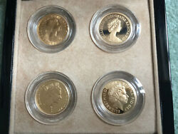 Royal Mint Qe Ii Gold Sovereign Portrait Collection - 4 Full Sovereigns.