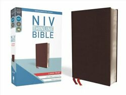 Niv, Thinline Bible, Large Print, Bonded Leather, Burgundy, Red... 9780310448341
