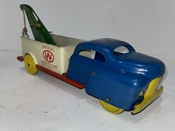 Wyandotte Toys Pressed Steel Tow Truck Service Car Nice