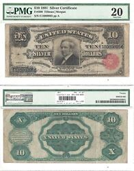 1891 10 Silver Certificate Tombstone Note Fr 299 Pmg Very Fine-20