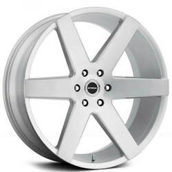 28 Inch 6x5.5 4 Wheels Rims Strada Perfetto S35 28x10 +24mm Brushed Silver