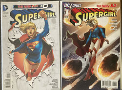 Huge Lot Of 14 2011 First Print Supergirl Run 0,1,2,3,4,5,6,7,8,9-13 See Pics