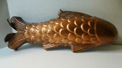 Beautiful Vintage 15 Copper Fish - Wall Hanging Kitchen Decor