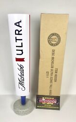 """Michelob Ultra Ribbon Logo Beer Tap Handle 12"""" Tall- Brand New In Box"""