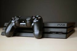 Sony Playstation 4 Pro And Dualshock 4 Controller 1tb Ps4 4k Hdr