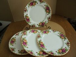 Royal Albert England Old Country Roses Salad Plate Set Of 4 Vintage