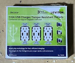 15 A Decora Combination Tamper Resistant Duplex Outlet And Usb Chargerdamage Box
