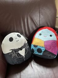 Jack Skellington And Sally Squishmallow 12 Nwt The Nightmare Before Christmas