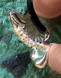 Silver Penis Necklace Pull The Chain Finger Assist And Watch It Rise Fertility
