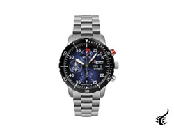 Zeppelin Eurofighter Automatic Watch, Pvd, Blue, 43 Mm, Day And Date, 7218m-3