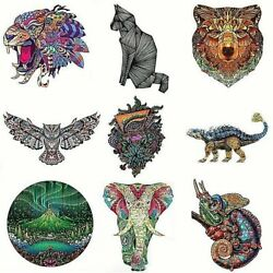 Unique Animals Wooden Jigsaw Puzzles For Adults Kids Wooden Puzzle Educational