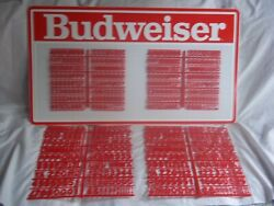 L@@k Nos Budweiser Menu Board Sign W/4 Letters And Numbers And Symbols Sets