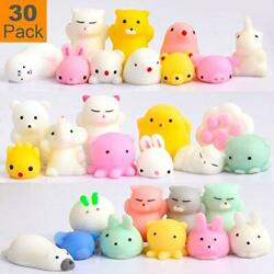 Squishy Toys Party Favors For Kids - Squishys 30 Pack Mini Mochi Squishies,