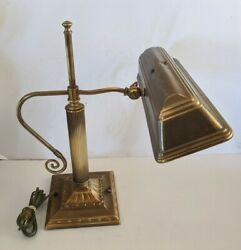 Vintage Bryant Brass Desk Bankers Piano Lamp