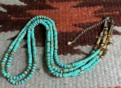 South Western Multi-strands Turquoise Heishi Necklace/23y241c-w1