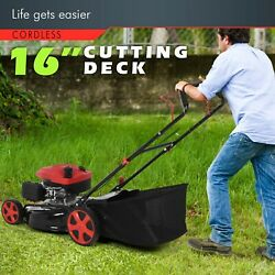 161cc 20 In 2-in-1 High-wheeled Fwd Self-propelled Gas Powered Lawn Mower