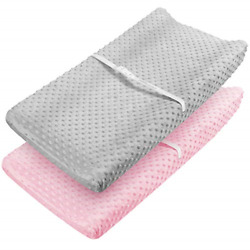 Babebay Changing Pad Cover - Ultra Soft Minky Dots Plush Changing Table Covers And