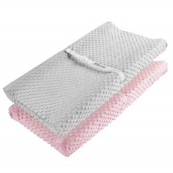 Changing Pad Cover, Acemommy Ultra Soft Minky Dots Plush Changing Table Covers 2