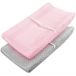 Changing Pad Cover - Babebay Ultra Soft Minky Dots Plush Changing Table Covers