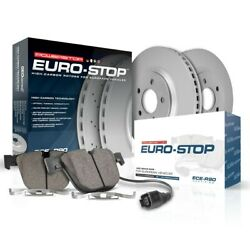 Esk7852 Powerstop 2-wheel Set Brake Disc And Pad Kits Front New For Mercedes