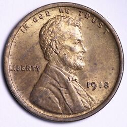 1918 Lincoln Wheat Cent Penny Choice Bu Uncirculated Ms Free S/h E688 Tnk