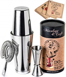 Cocktail Shaker Boston Shaker Set Professional Weighted Martini Shakers And  