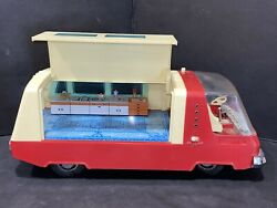 Extremely Rare 1960's Sears Toy Battery Operated Camper Trailer Parts Or Repair
