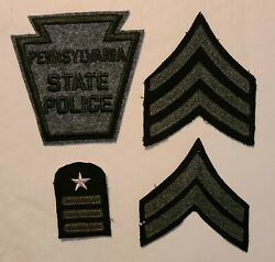 Black And Gray Color Pennsylvania State Police. Sgt., Cpl. And 16 Years Of Service