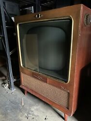 Stunning Mid Century 1950s Rca Television Tv Great Condition.