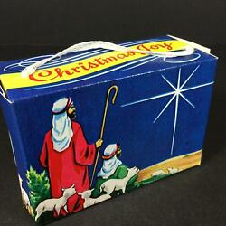 Vintage 5 Christmas Cardboard Gift/candy/toy Boxes Shepherds Star String Handle