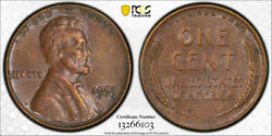 1955 Double Die Obverse Lincoln Cent Pcgs Au 55 1955/1955 Ddo About Uncirculated