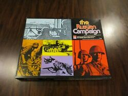 Avalon Hill The Russian Campaign With 2nd And 3rd. Edition Rules Unpunched