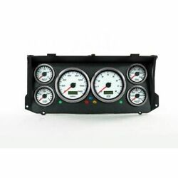New Vintage Usa 79026-03 Performance Ii Gauge Kit - White For Ford Truck New
