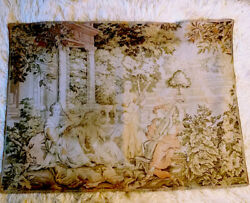 FRENCH TAPESTRY IN EXCELLENT CONDITION LOVELY SCENE MUSICIANS