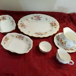 Royal Crown Derby Derby Posies Serving Dishes 7 Pieces