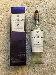 2017 Macallan 18 Year Old Whisky Bottle And Purple Box Set 🔥
