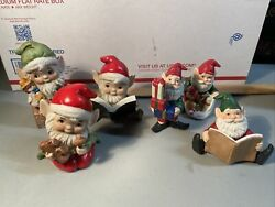 Vintage Lot Of 6 Homco Christmas Elf Figurines 5602 And 5406 Elves Gnomes Pixies