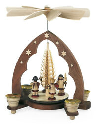 Table Pyramid Geschenkeengel Pointed Arch Chip Tree 1-stöckig Nature For Candles