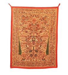 Wall Hanging Thread Hand Work Fine Full Home Decor Vintage Pure Handmade Us369wh
