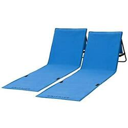 Unipride Beach For Adults Folding Lightweight Camping Chairs Set of 2 Blue $39.99