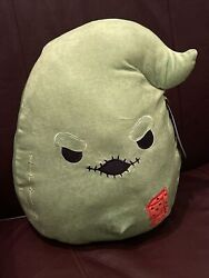 """Squishmallow 12"""" Nightmare Before Christmas Green Oogie Boogie Plush Dice Nwt"""