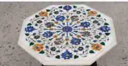 24 White Marble Table Top Coffee Center Home Decor Inlay Antique Malachite L5