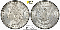 1886 O 1 Morgan Dollar Pcgs Ms 60 Uncirculated New Orleans Mint Nice