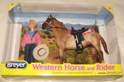 Breyer classic western horse and rider set red