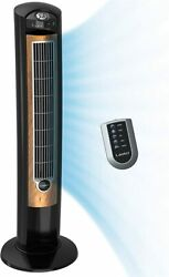 Electric 42 Oscillating Fan With Fresh Air Ionizer, Timer And Remote Control