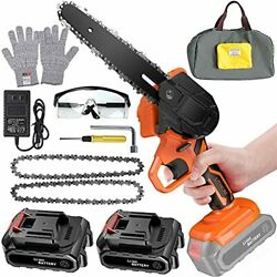 6 Inch Mini Chainsaw Cordless Power Battery Chain Saws One-hand Operated Portabl