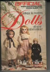 1989 Official Dolls Price Guide By Julie Collier Paperback Book 4th Edition