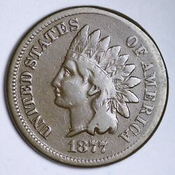 1877 Indian Head Cent Penny Choice Vf Free Shipping E121 Wcqms