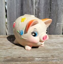 Vintage Sanitoy Molded Plastic Carnival Fair Prize Embossed Piggy Bank