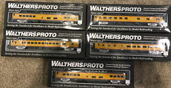 Walthers Proto Ho Up Union Pacific Heritage Series 85' Acf Lot Of 5 Trains Bnib